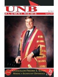 Spring 2003 - University of New Brunswick