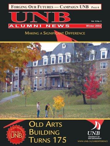 Alumni News Winter 2004 - University of New Brunswick