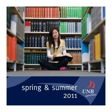 UNBSJ Spring/Summer Brochure - University of New Brunswick