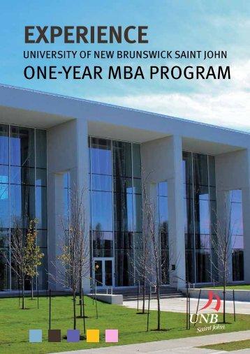 brochure - University of New Brunswick