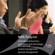 MBA Program - University of New Brunswick
