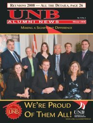 Winter 2008 - University of New Brunswick