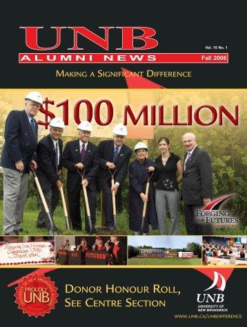 AN Fall 2006 - University of New Brunswick