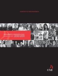 2010-2011 - University of New Brunswick