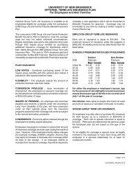 Optional Group Life Insurance - University of New Brunswick