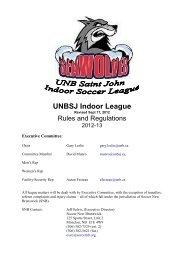 Rules and regulations - University of New Brunswick