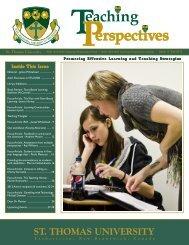 Teaching Perspectives - University of New Brunswick