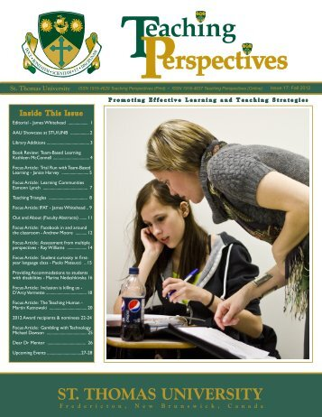 Teaching Perspectives - University of New Brunswick