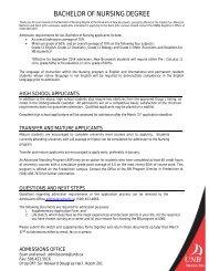 Nursing Supplementary Form - University of New Brunswick