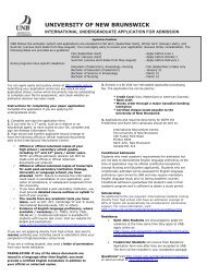 Application for International Students - University of New Brunswick