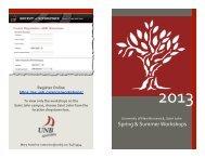 Workshop Booklet - University of New Brunswick