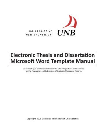 Word thesis template mit