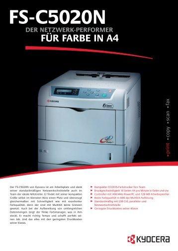 Technische Daten FS-C5020N