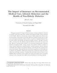 The Impact of Insurance on Recommended Medical Care, Lifestyle ...