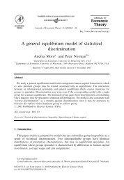 A general equilibrium model of statistical discrimination