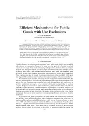 Efficient Mechanisms for Public Goods with Use Exclusions