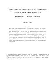 Conditional Asset Pricing Models with Instruments Closer to Agent's ...