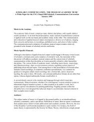SCHOLARLY COMMUNICATION: THE FIELDS OF ACADEMIC ...