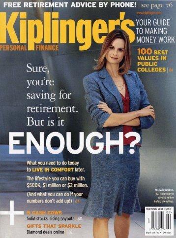 Kiplinger's Personal Finance - University of North Carolina at ...