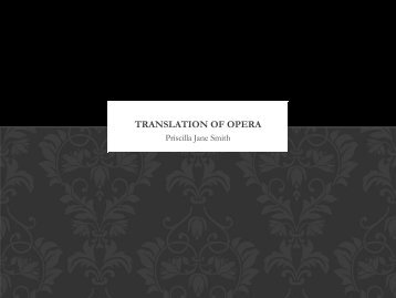 Translation of opera