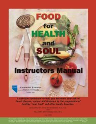 Food for Health and Soul - University of Nevada Cooperative ...