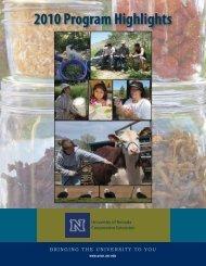 2010 Program Highlights - University of Nevada Cooperative ...