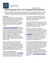 Soil Properties, Part 1 of 3: Physical Characteristics - University of ...