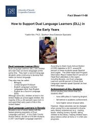 How to Support Dual Language Learners - University of Nevada ...