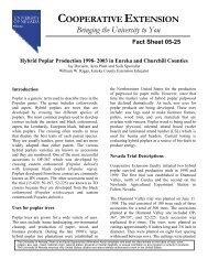 Hybrid Poplar Production 1998 - University of Nevada Cooperative ...