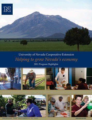 University of Nevada Cooperative Extension 2011 Program Highlights