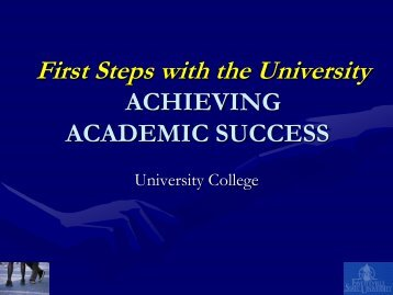Achieving Academic Success