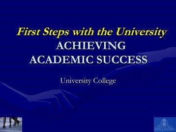 Achieving Academic Success