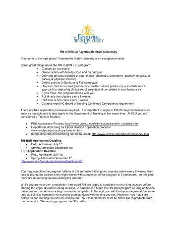 RN-BSN/MSN Program Curriculum Rotation for Charleston Area ...