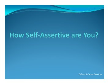 Self-Assertiveness Skills