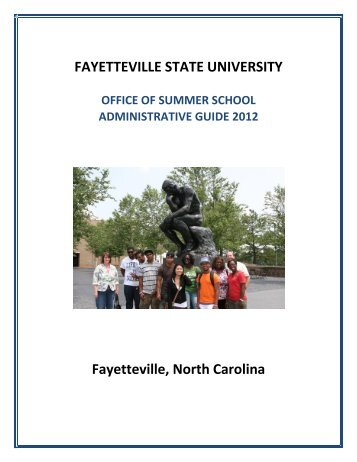 table of contents - Fayetteville State University