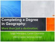 Completing a Degree in Geography - presentation