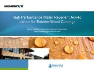 High Performance Water Repellent Acrylic Latices for Exterior Wood ...