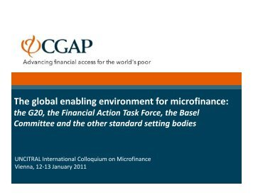 The global enabling environment for microfinance: The ... - uncitral