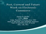 Past, Current and Future Work on Electronic Commerce - uncitral