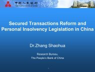 Secured Transactions Reform and Personal Insolvency ... - UNCITRAL