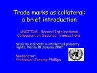 Trade marks as collateral - uncitral
