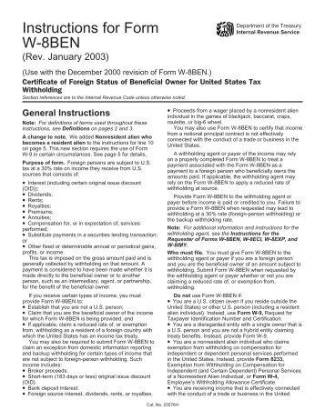 Form W 8ben Compliance Technologies International