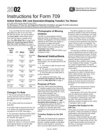 Instructions For Form 709 Uncle Feds Taxboard