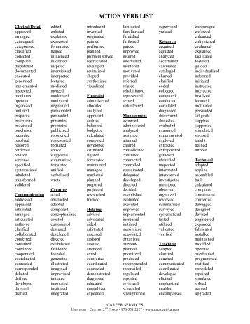 resume action words happytom co
