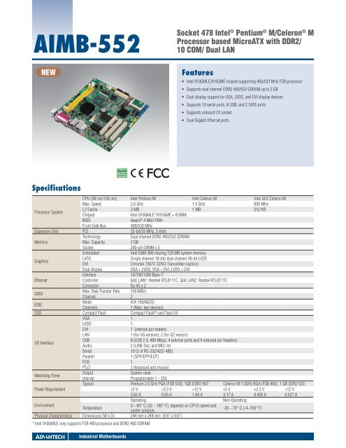 ADVANTECH AIMB-552 INTEL CHIPSET DESCARGAR CONTROLADOR