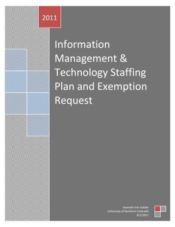Information Management & Technology Staffing Plan - University of ...