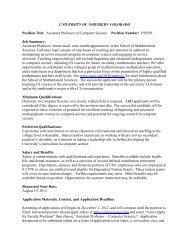 Assistant Professor of Computer Science Position Number: F99505 ...