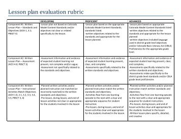 Guidance Counselor Evaluation Rubric - Collinsville Community ...