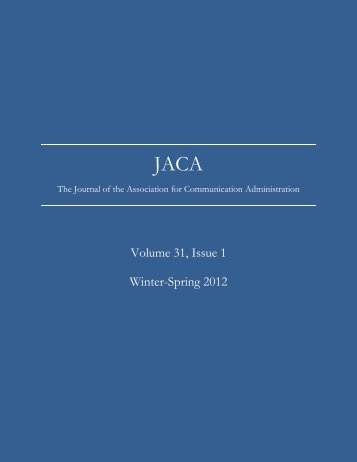 Volume 31, Issue 1 Winter-Spring 2012