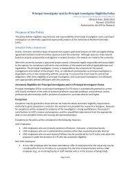Principal Investigator and Co-Principal Investigator Eligibility Policy ...